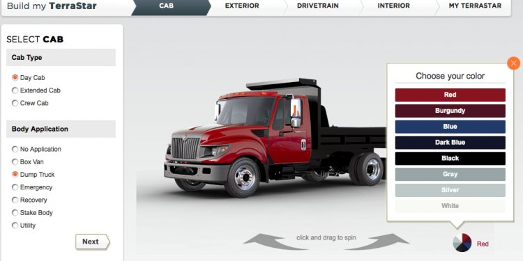 Custom truck Builder online