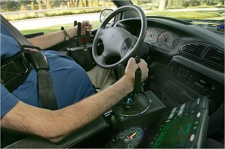 driver using modified steering