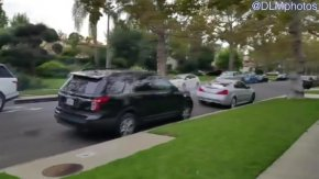[LA] RAW VIDEO: Exotic Cars Race Through Residential Neighborhood
