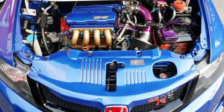 Modified engine bay
