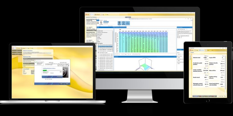 Automotive performance tuning software